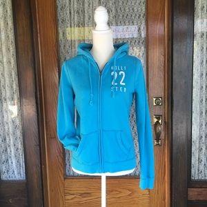 Hollister size medium apple blue zip up hoodie